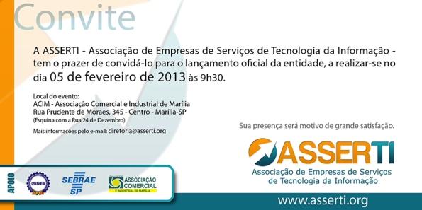 Evento de lançamento da ASSERTI acontece dia 05/02 na ACIM