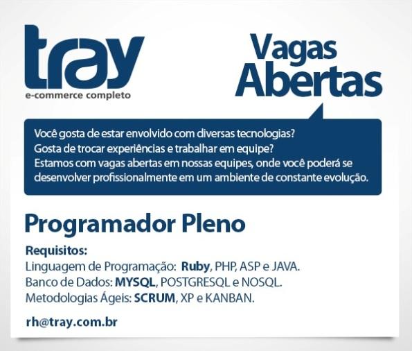 Tray contrata Programador Pleno