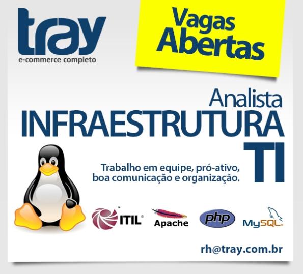 Tray contrata Analista de Infraestrutura de TI