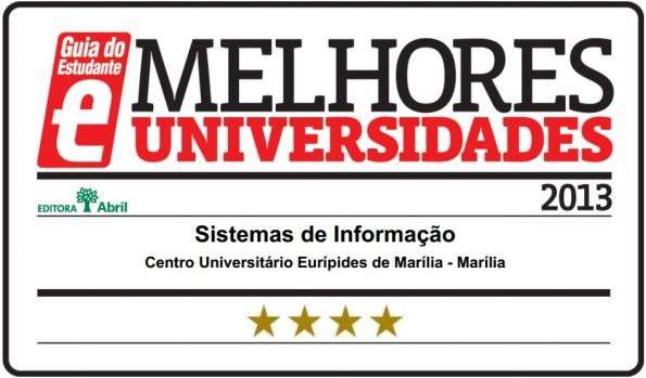 Sistemas de Informação do Univem recebe Selo de Qualidade no Guia do Estudante 2013