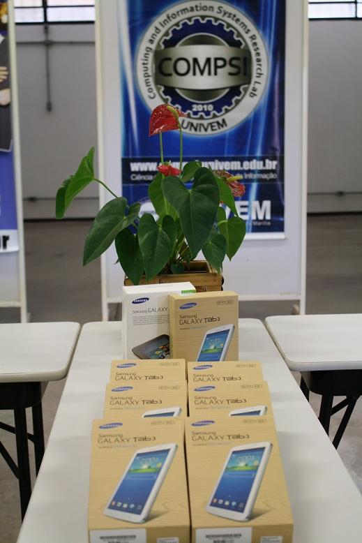 Tablets que serão entregues aos vencedores