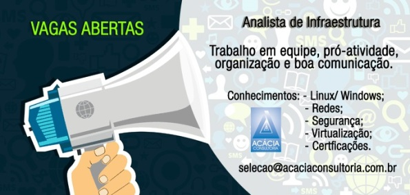 Acácia contrata Analista de Infraestrutura