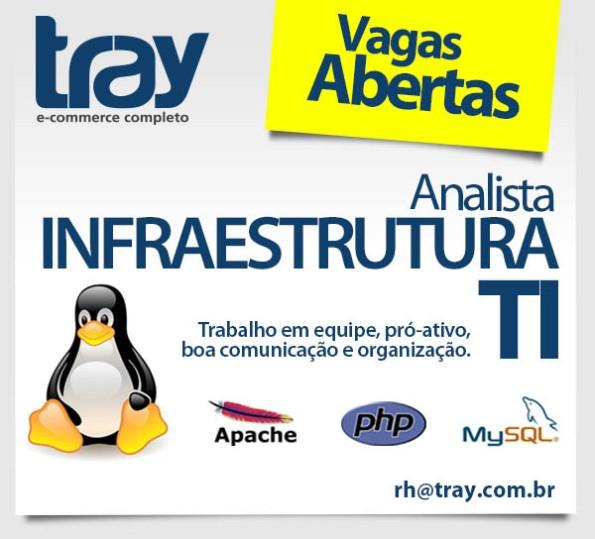 Vaga para Analista de Infraestrutura de TI