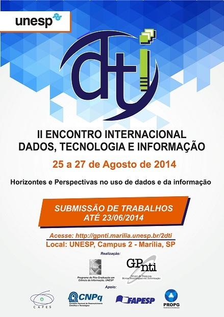II Encontro Internacional de Dados, Tecnologia e Informação