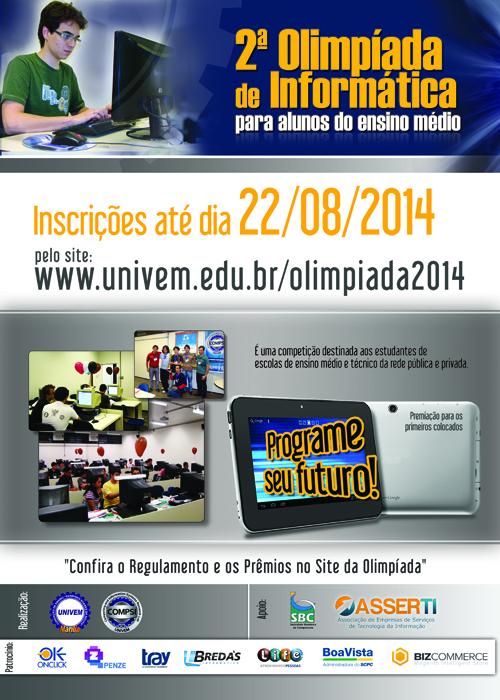 2ª Olimpíada de Informática para Alunos do Ensino Médio