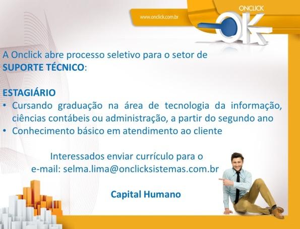 Onclick abre vaga para estágio na área de suporte técnico