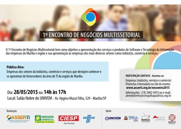 Convite 1º Encontro de Negócios Multissetorial