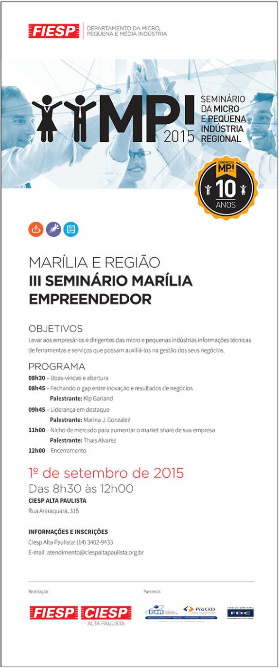 CIESP promove III Seminário Marília Empreendedor