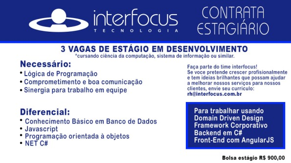 INTERFOCUS ANUNCIO ESTAGIO